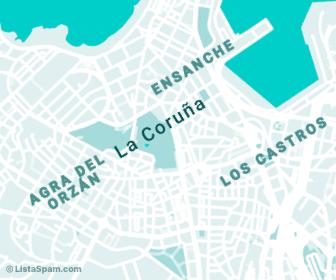 mapa de acoruna