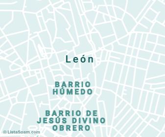 mapa de leon