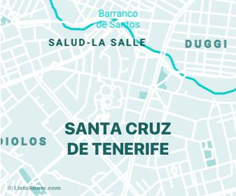 mapa de santacruzdetenerife